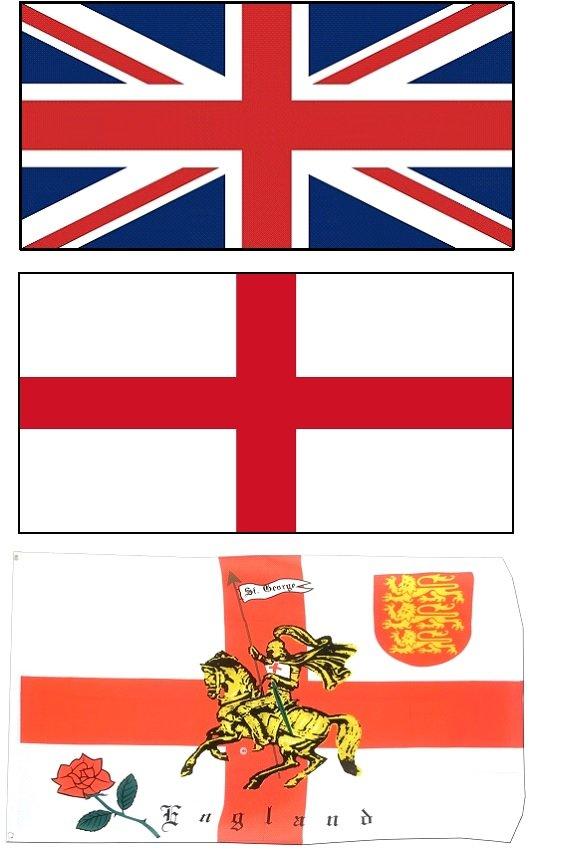 150cm x 90cm Flag White Dragon Of England 5ft x 3ft